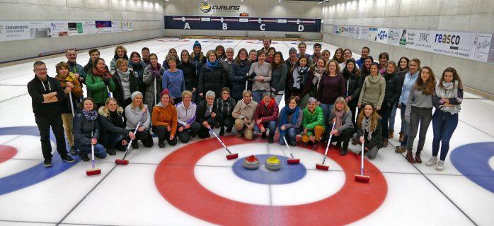 BEDA BECK bäckerei Team, das an der Curling-Veranstaltung teilnimmt